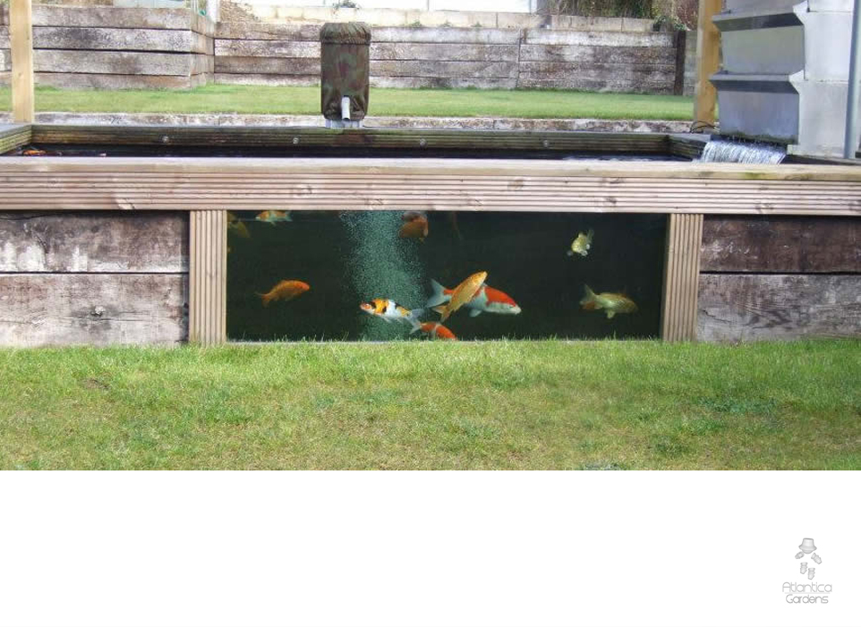 Instantpond offical site atlantica gardens uk company for Koi pond glass